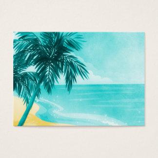 Praia tropical cartão de visitas