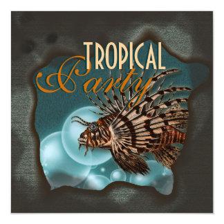 """Praia tropical de """"partido elegante alguma idade"""" convite"""