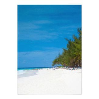 Praia tropical em Barbados Convites