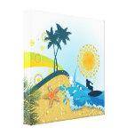 Praia tropical, impressão das canvas do oceano impressão em tela canvas