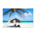 Praia tropical impressão de canvas esticadas