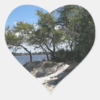 Praias Adesivo Coração