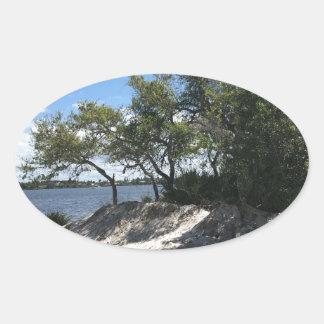 Praias Adesivo Oval