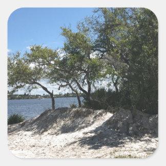 Praias Adesivo Quadrado