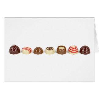 Pralines do chocolate cartão comemorativo