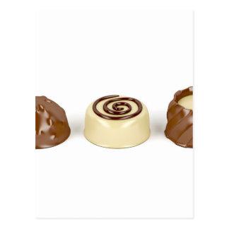 Pralines do chocolate cartão postal