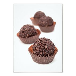 Pralines do chocolate convite 12.7 x 17.78cm