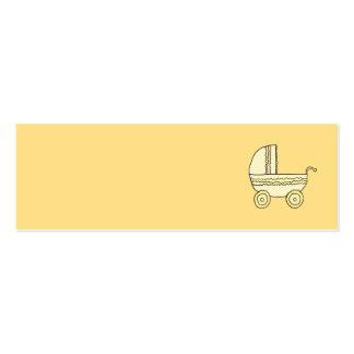 Pram. amarelo do bebê cartão de visita skinny