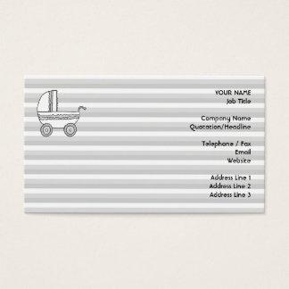 Pram. branco e cinzento do bebê cartão de visitas