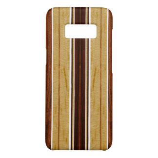 Prancha da madeira de Koa do falso de Nalu Hou Capa Case-Mate Samsung Galaxy S8