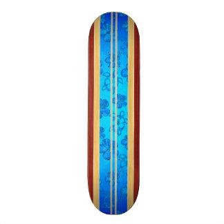 Prancha da madeira do falso de Honu Hawiian Shape De Skate 19,7cm