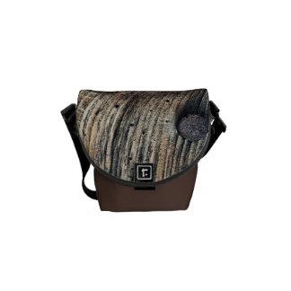 Prancha da mini bolsa mensageiro de madeira