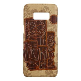 Prancha de madeira da madeira do falso de Koa Tiki Capa Case-Mate Samsung Galaxy S8