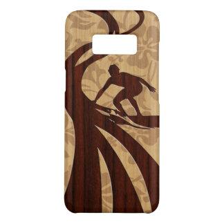 Prancha de madeira da madeira do falso do surfista capa Case-Mate samsung galaxy s8