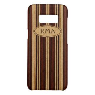 Prancha de madeira do monograma de Koa do falso de Capa Case-Mate Samsung Galaxy S8