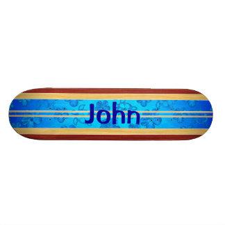 Prancha de madeira falsificada de Honu Hawiian Shape De Skate 20cm