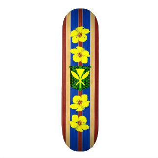 Prancha de madeira falsificada de Kanaka Maoli Shape De Skate 19,7cm