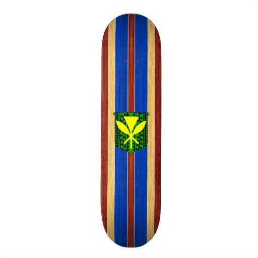 Prancha de madeira falsificada de Kanaka Maoli Skate Personalizado