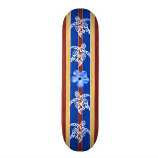 Prancha de madeira falsificada tribal de Honu Shape De Skate 21,6cm