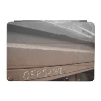 Prancha do surf que surfa no mar o marrom cinzento capa para iPad mini