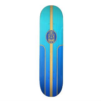 Prancha retro azul de Tiki Skate