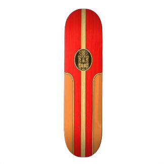 Prancha retro de Tiki Shape De Skate 18,1cm