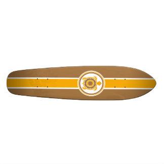 Prancha retro shape de skate 18,4cm