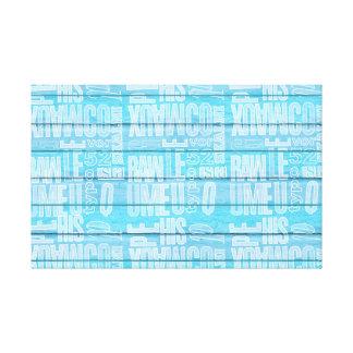 Pranchas azuis impressão em tela