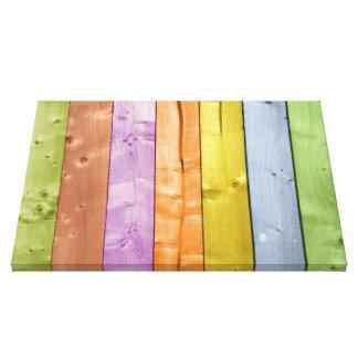 Pranchas de madeira lavadas cor impressão de canvas esticada