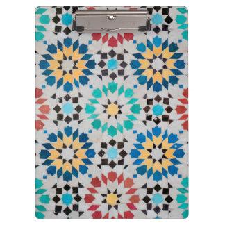 Prancheta árabe do mosaico