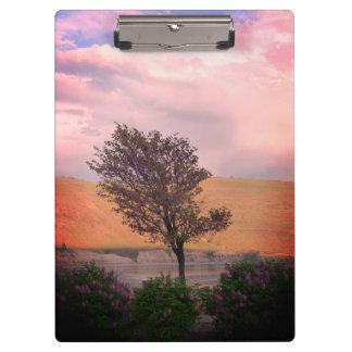 Prancheta da árvore do Lilac