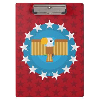 Prancheta de Eagle da liberdade (vermelho) -