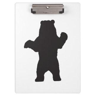 Prancheta do urso preto