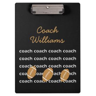 Prancheta personalizada treinador de futebol