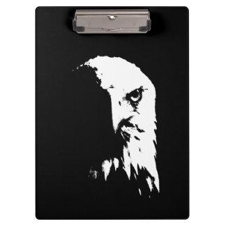 Prancheta preta & branca da águia americana