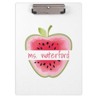 Pranchetas A melancia Apple personalizou o professor