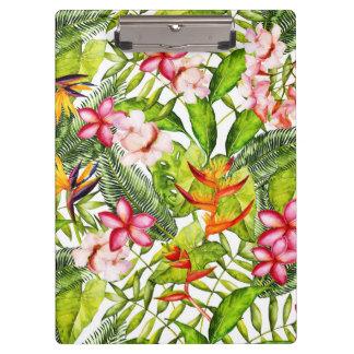 Pranchetas Aloha flores exóticas tropicais da selva