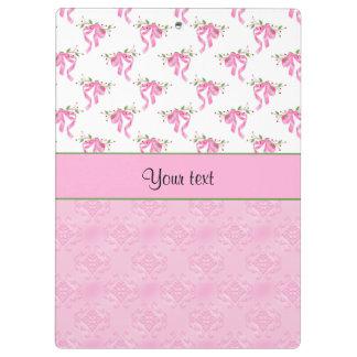 Pranchetas Arcos cor-de-rosa românticos & damasco cor-de-rosa