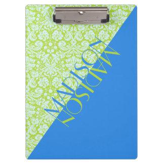 Pranchetas Azul na moda do verde limão da forma do recurso do
