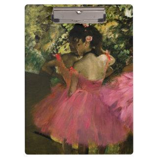Pranchetas Bailarinas no rosa por Edgar Degas