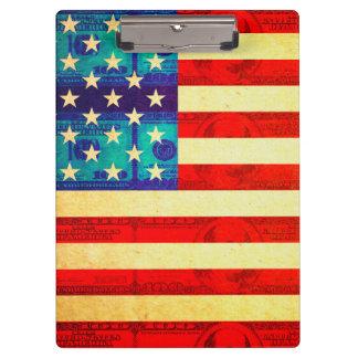 Pranchetas Bandeira do dinheiro de América