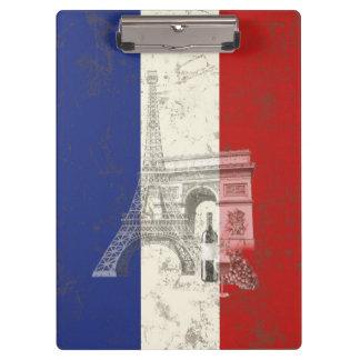 Pranchetas Bandeira e símbolos de France ID156