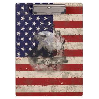 Pranchetas Bandeira e símbolos dos Estados Unidos ID155