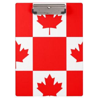 Pranchetas Bandeira nacional de Canadá, folha de bordo,