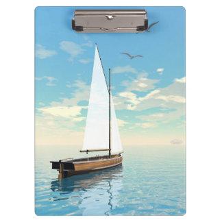 Pranchetas Barco de navigação - 3D rendem