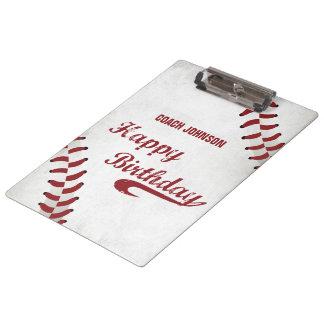 Pranchetas Basebol do Grunge do feliz aniversario do