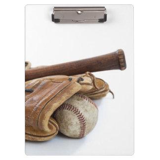 Pranchetas Basebol e bastão do vintage