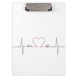 Pranchetas Batimento cardíaco com citações inspiradas da vida