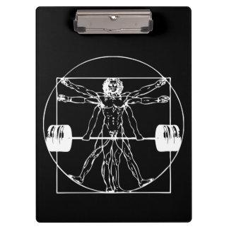 Pranchetas Bodybuilding - homem do Barbell de Vitruvian