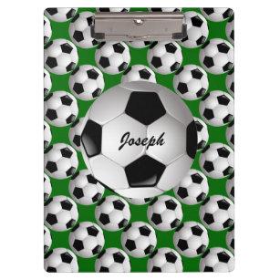 f4a08fcd27 Pranchetas Bola de futebol personalizada no teste padrão do